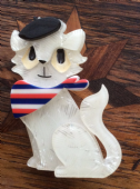 Erstwilder Farrah  The French Kitty Brooch - Limited Edition Pin